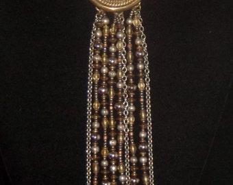 Vintage Sterling Silver Beaded Multi-Strand Necklace David Navarro Alternatives Women's Accessories David Navarro Designer Jewelry