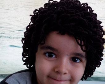 Baby boy Dark Brown  Cabbage Patch wig,Halloween costume,Cabbage patch costume, crochet cabbage patch hat,Halloween costume pageant Hair