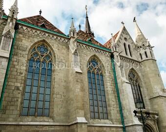 Budapest Matthias Church Photo Print, Hungarian Photography, European Church, Travel Photo, Castle Hill, 8x10 print