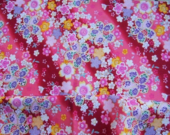 Japanese Fabric - Pink - cherry blossoms
