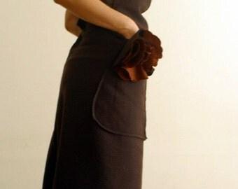 SAMPLE SALE/ M/Wool dress in brown/