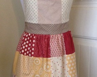 Patchwork Apron - Dots and Sun