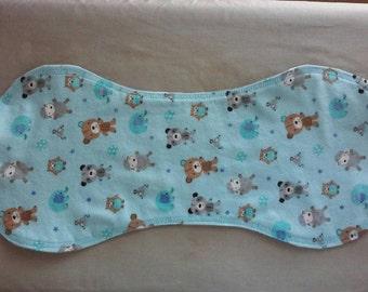 Animal Print Burp Cloth