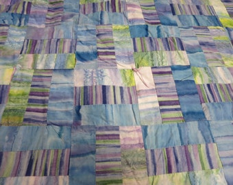 62X80 strip watercolor quilt