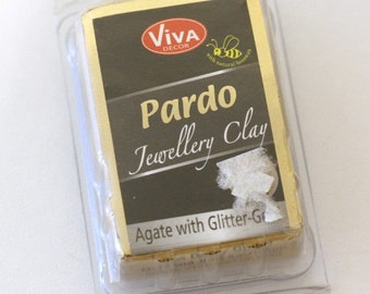 Viva Decor Pardo Jewellery Clay beeswax Agate with Glitter Gold - Jewelry Making