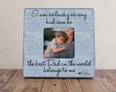 Father's Day Picture Frame, Personalized Dad Frame, Best Dad Belongs To Me Frame