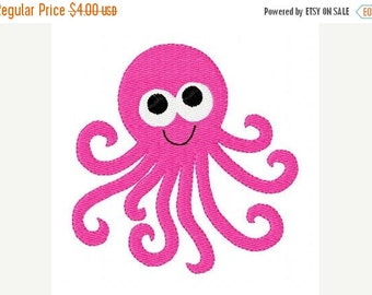 SALE INSTANT DOWNLOAD Octopus Machine Embroidery Design