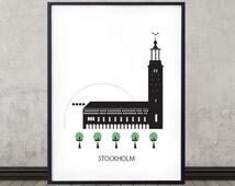 Articles populaires correspondant stockholm poster sur etsy - Affiche design scandinave ...