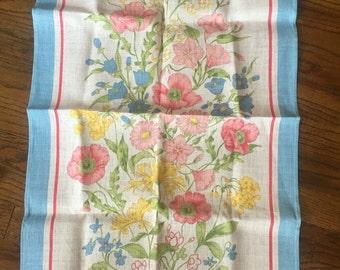 Ulster meadow flowers linen dish towel