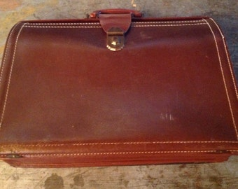 Vintage Leather Doctor's Bag Brief Case