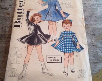 Vintage Butterick Sewing Pattern 9352 Girl's Size 6 Sportswear