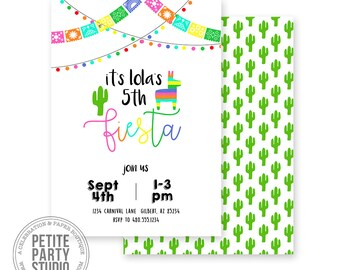 Fiesta Birthday Party Printable Invitation - Birthday or Baby Shower - Petite Party Studio