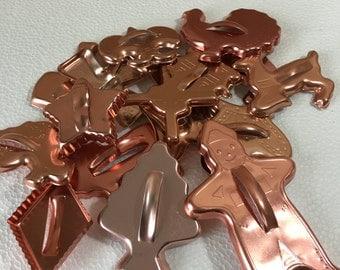 Vintage Copper Cookie Cutter Lot of 15 Set 2