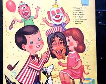 Mask-a-rade vintage book of punchout masks