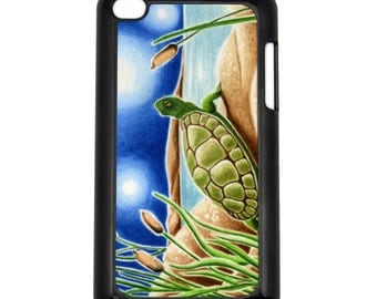 Star Gazing Turtle Apple iPod Touch 4th Generation Hard Case Original Turtle Art (Choose Case Color)