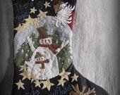 Magic Inside Every Snowflake Stocking E-PATTERN by cheswickcompany