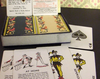 Vintage Playing Cards - Double Deck - 1939 Birds Bridge Poker Cards