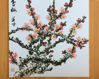 Original Chinese Painting-Blossom in Snow(Plum Blossom in Snow)