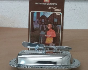 Vintage Butter Dish and Spreader