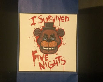 30 Five Nights At Freddy's FNAF Birthday Party Treat Favor Bags PERSONALIZED