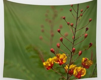Wall Tapestry Wall Hanging Wall Art Mexican Bird of Paradise Flower