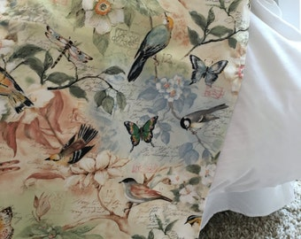 Bed Runner | Bed Scarf | Bed Cover | Twin | Queen | King | Beddings | Pillow Cover Sham | Bird