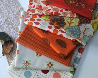 Fall in orange Janum curated bundle- 8 fat quarters