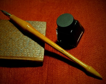artists dip pen nib holder, hand crafted unique writing instrument