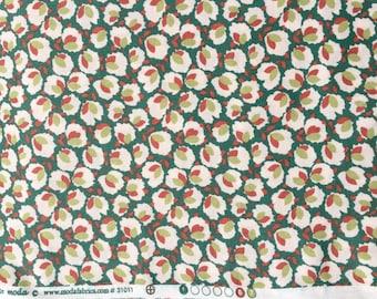 SALE : Cotton verdigris Blossom Urban Chiks moda fabric FQ or more