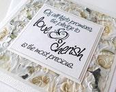 Wedding Greeting Card:  Handmade Blank Note Card - Love & Cherish