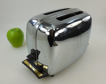 Vtg Chrome Electric Toaster - Parts Repair Adjust - Toastmaster 1B24