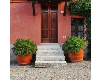 """Fine Art Color Travel Photography of Tuscany - """"Door and Steps at a Tuscan Farmhouse"""""""