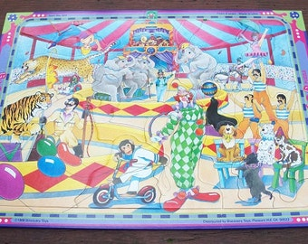 Vintage 1988 Discovery Toys Big Top Puzzle Circus Number 364