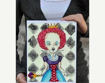 55% Off- POSTER ART  Alice In Wonderland Queen Print