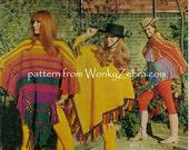 Vintage Crochet and Knit Ponchos and Shawl Pattern PDF 800 from WonkyZebra