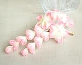 Ombre pink sakura trio with falls silk kanzashi