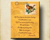 Emily Dickinson I shall not live in vain 11x14 Cafe Mount Word Art Print, Print, Canvas, Greeting Card - Motivational, Inspirational, Birds