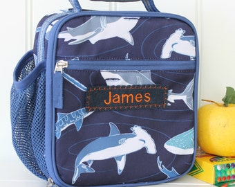 Lunch Bag With Monogram Classic Pottery Barn -- Multi Shark