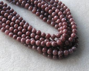 """Jewelry Making Beads, Jade Beads, Craft Supplies, Chocolate Jade Beads, Jewelry Supply, Beads for Designing, Round Beads, 15"""" Strand, 8mm"""