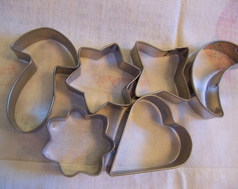 set of six variety cookie cutters