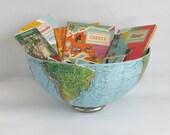 Upcycled Vintage Globe Bowl