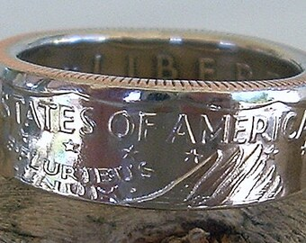 1979 Susan B. Anthony Dollar Coin Ring (Available in sizes 6.5 through 10)