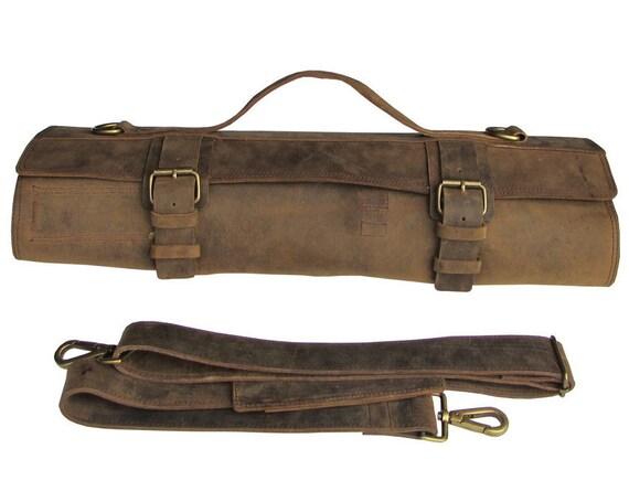 leather knife roll leather chefs bag knife case chef bag. Black Bedroom Furniture Sets. Home Design Ideas