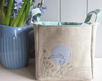 Hare and The Moon Linen Basket