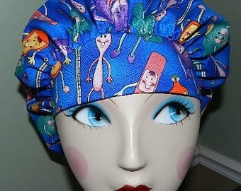 Get Well  Banded Bouffant Surgical Cap by Nurseheadwear