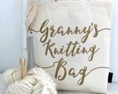 Grandma's knitting gift - Granny's knitting bag - Kelly Connor Designs