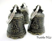 Kwan Yin Vintage Bell Key Chain, Key Fob, Supplies, Arts & Crafts, Bell, Ritual, Spiritual Bell