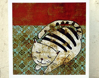 Cat card // greeting card // lovely cat illustration