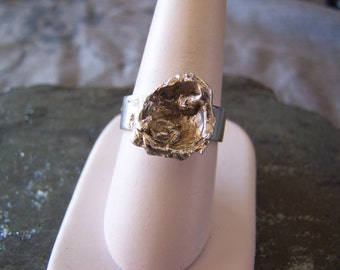 Water Casting Oyster Ring, READY TO SHIP Size 9