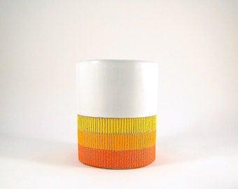 Ceramic Sunrise Tumbler Cup Planter Vase Container